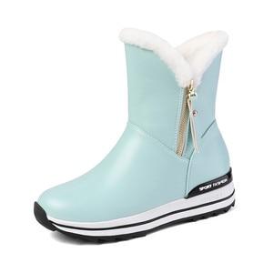 Image 2 - MORAZORA 2020 I Più Nuovi stivali da neve delle donne di tenere in caldo caviglia stivali zip punta rotonda pattini della piattaforma della donna di inverno piatto stivali nero