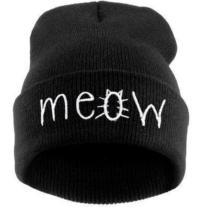 2015 autumn & winter hat Fashion women hats caps beanie skullies for men unisex Winter hats for women gorros Letter cat Cap