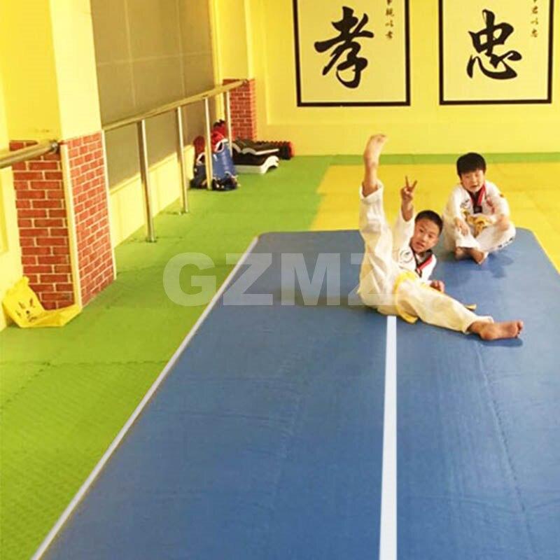 Gymnastique gonflable de tapis de culbuteur de Cheerleading de plancher de voie d'air avec la pompe à main