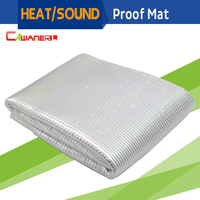 Cawanerl 48 X 40 Car Heat Shield Sound Insulation Proof Mat Deadening Deadener Anti Noise For Firewall Door Hood Ceiling Trunk