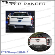 2012-2017 Suitable Ford Ranger Accessories Tailgate Trim graphic vinyl For T6 T7 Car Styling Rangers