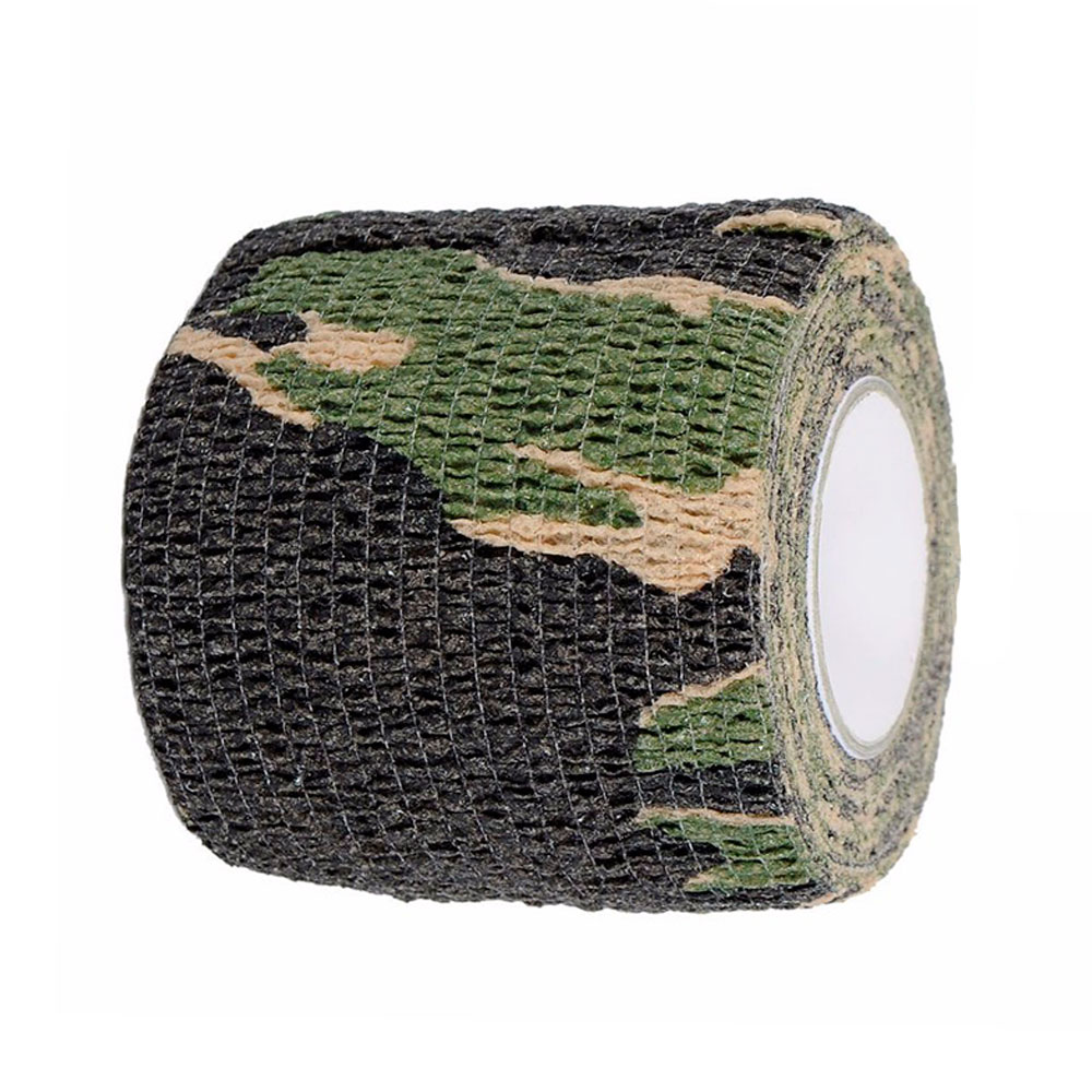 Adhesive Camouflage Tape Rifle Gun Cling Stretch Hunting Stealth Camo Wrap Cloth