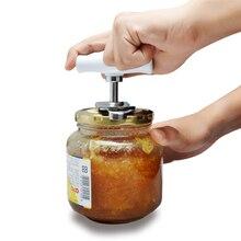 Ручная нержавеющая сталь легко открывалка для консервных банок Регулируемая 1-4 дюймовая крышка открывалки Инструмент Кухонные гаджеты