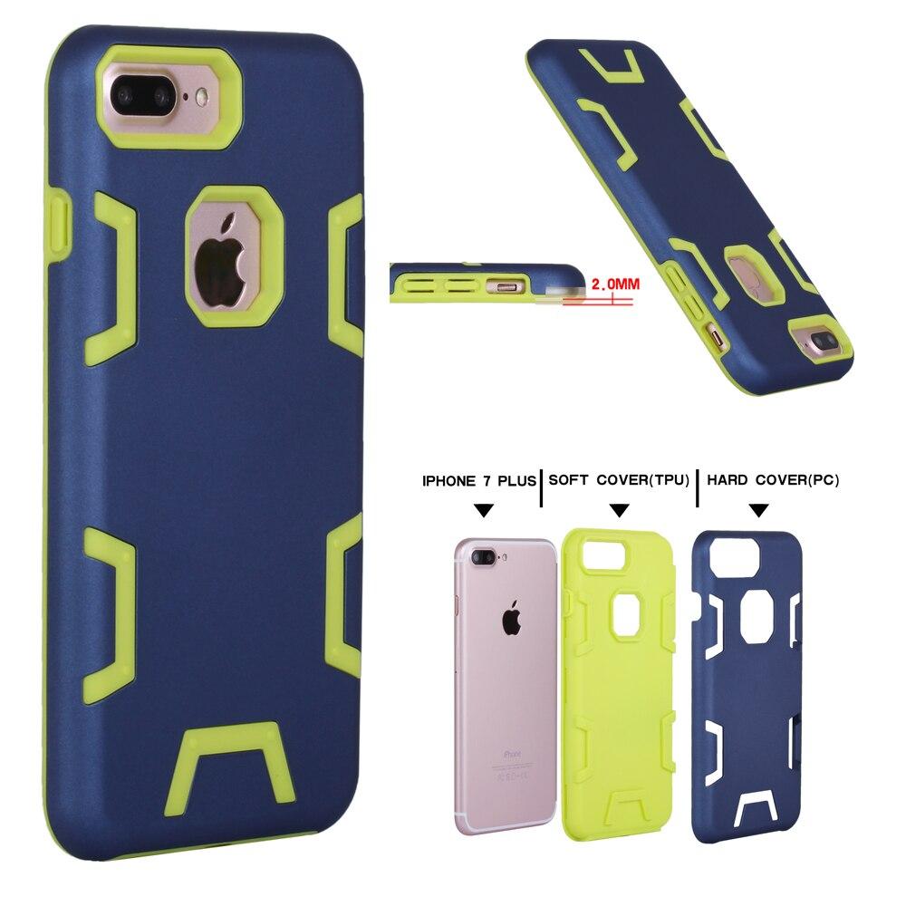 Para coque iphone 7 plus case tpu híbrido resistente armadura de plástico cajas