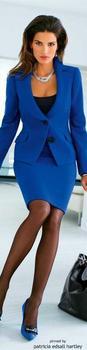Royal Blue Skirt Suit