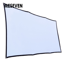 MESEVEN 120 дюймов 16:9 простой проектор экран полиэстер портативный складной передний/задний не мнущийся проекционный экран