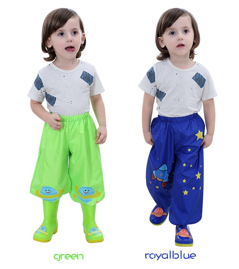 Children Rain Pants For Kids Baby Boys Girls Casual Rain proof Pants Students Raincoat Pants in Raincoats from Home Garden