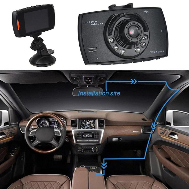 GEYIREN Car 1080P 2.2 Full HD DVR Vehicle Camera Dash Cam Video Recorder G-sensor Night Vision mar09 ZCJ4316