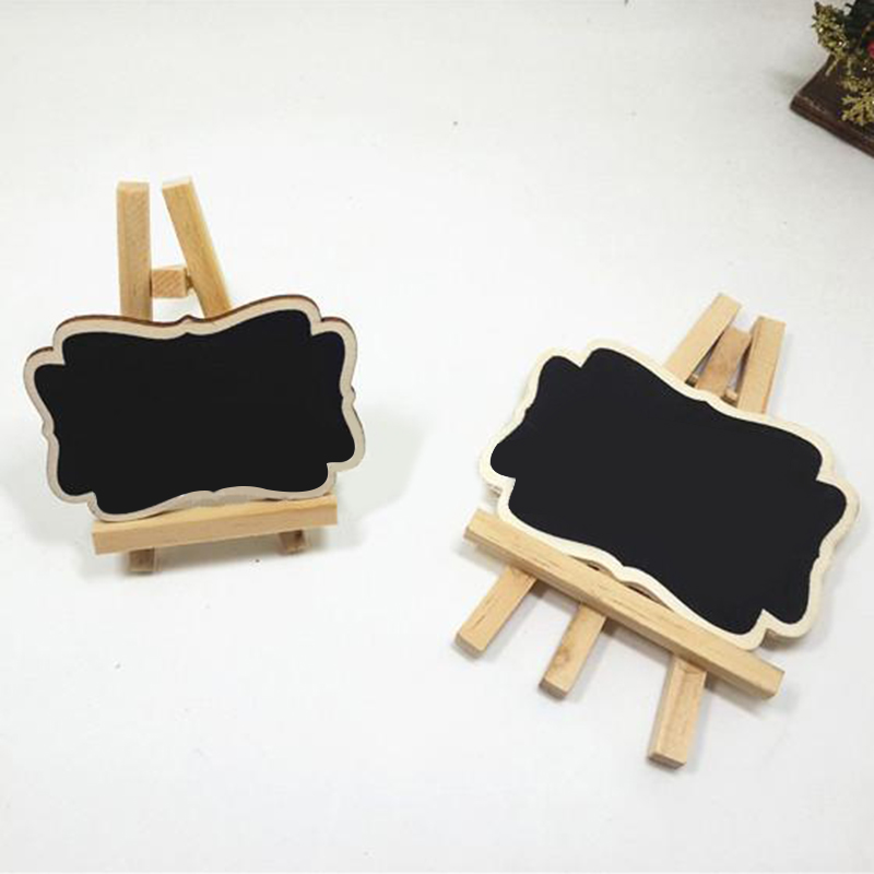 3pcs High Quality Mini Wood Chalkboard Framed Chalkboard Vintage Blackboard Wooden Place Card Holder Wedding Party Decorations image