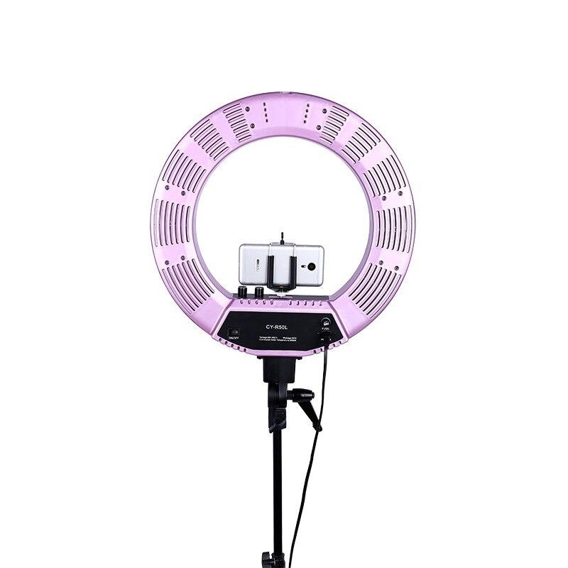 18 inch Outer LED Stepless Adjustment Ring Light Kit 480 Pieces LED 5500K Ring Light