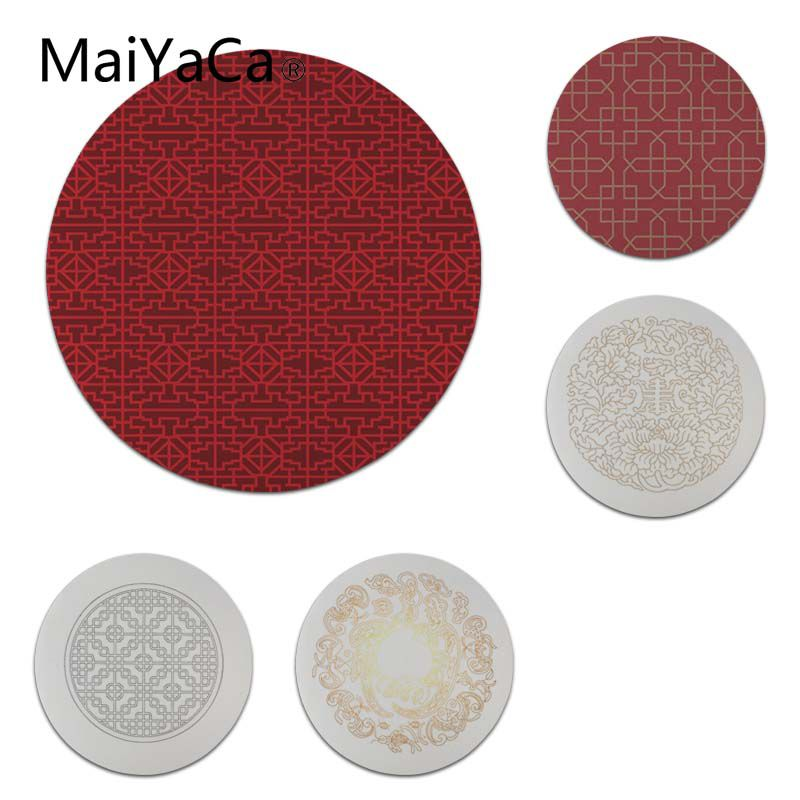MaiYaCa Custom Skin Chinese Pattern Round Mouse pad PC Computer mat Size for 20x20cm 22x22cm Professional Gaming Mouse Pad