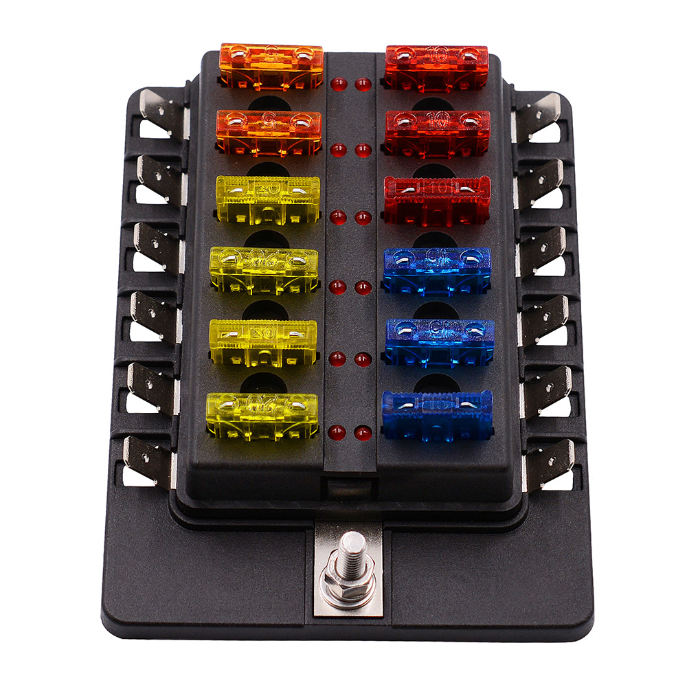 12 Way Blade Fuse Box Holder with LED Warning Light Kit for Car Boat Marine  Trike 12V 24V CY883 CN-in Fuses from Automobiles & Motorcycles on  Aliexpress.com ...