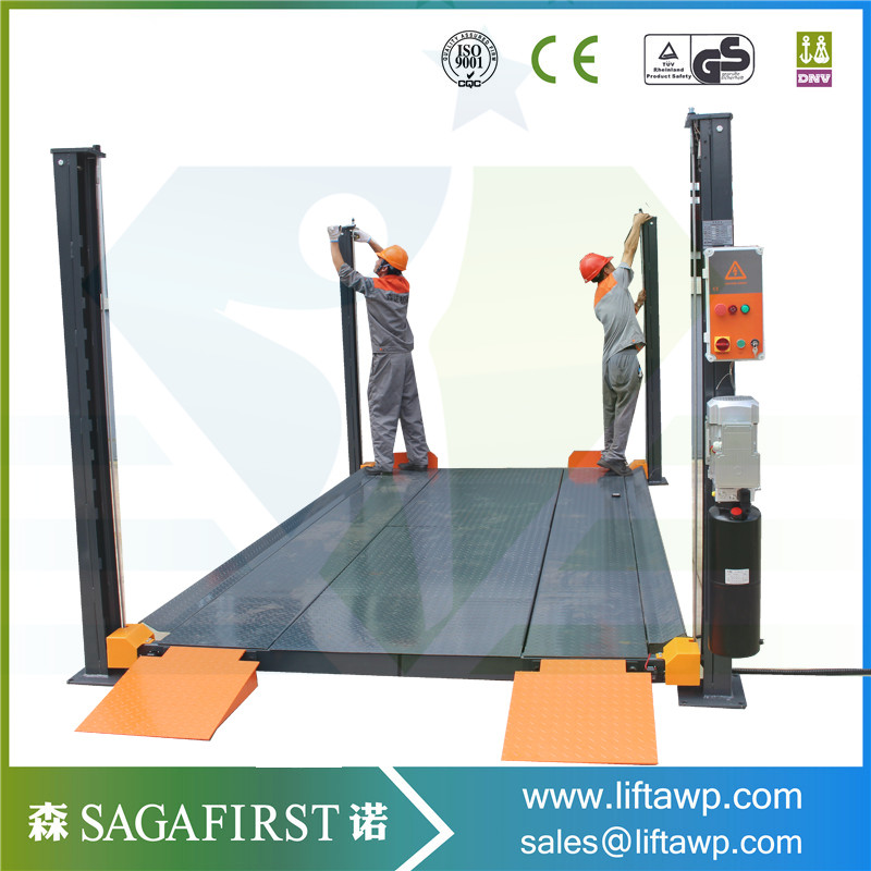 Hydraulic Four Post Car Parking Lift With CE