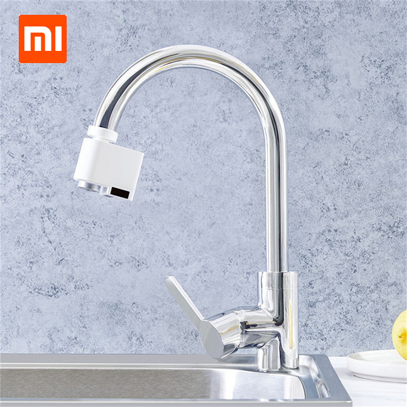 2019 Xiaomi Smart Sensor Faucet Infrared Sensor Automatic Water Saver Tap Anti-overflow Kitchen Bathroom Inductive Faucet
