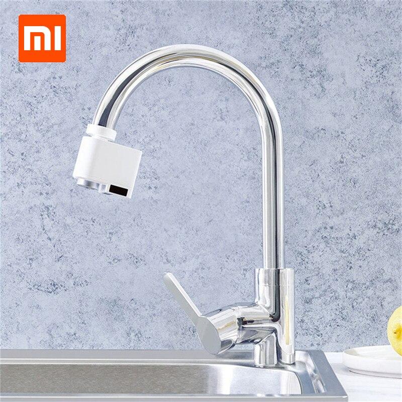 2019 xiaomi sensor inteligente torneira sensor infravermelho automático poupança de água da torneira anti-transbordamento cozinha banheiro indutivo