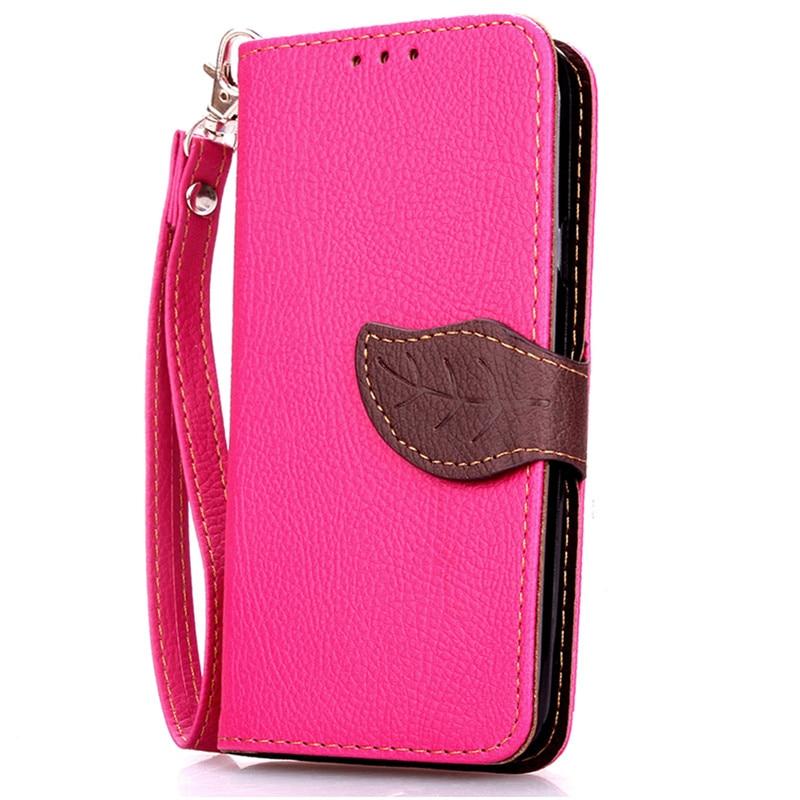 Luxury Magnetic Leaf PU Leather Wallet Flip Cover Case For Samsung Galaxy J1 Mini J105F J105H SM-J105F SM J105 J1mini Coque Bag