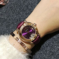 GUOU Wristwatches Quartz-Watches Waterproof Women's Watches Real Leather High-Grade Diamond Rolling Joker