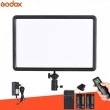GODOX LEDP260C דק 30 W LED וידאו אור פנל מנורה + סוללה ערכת דיגיטלי DSLR מצלמה סטודיו צילום