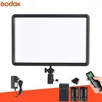 GODOX LEDP260C Ultra thin 30W LED Video Light Panel Lamp +Battery KIT for Digital DSLR Camera Studio Photography