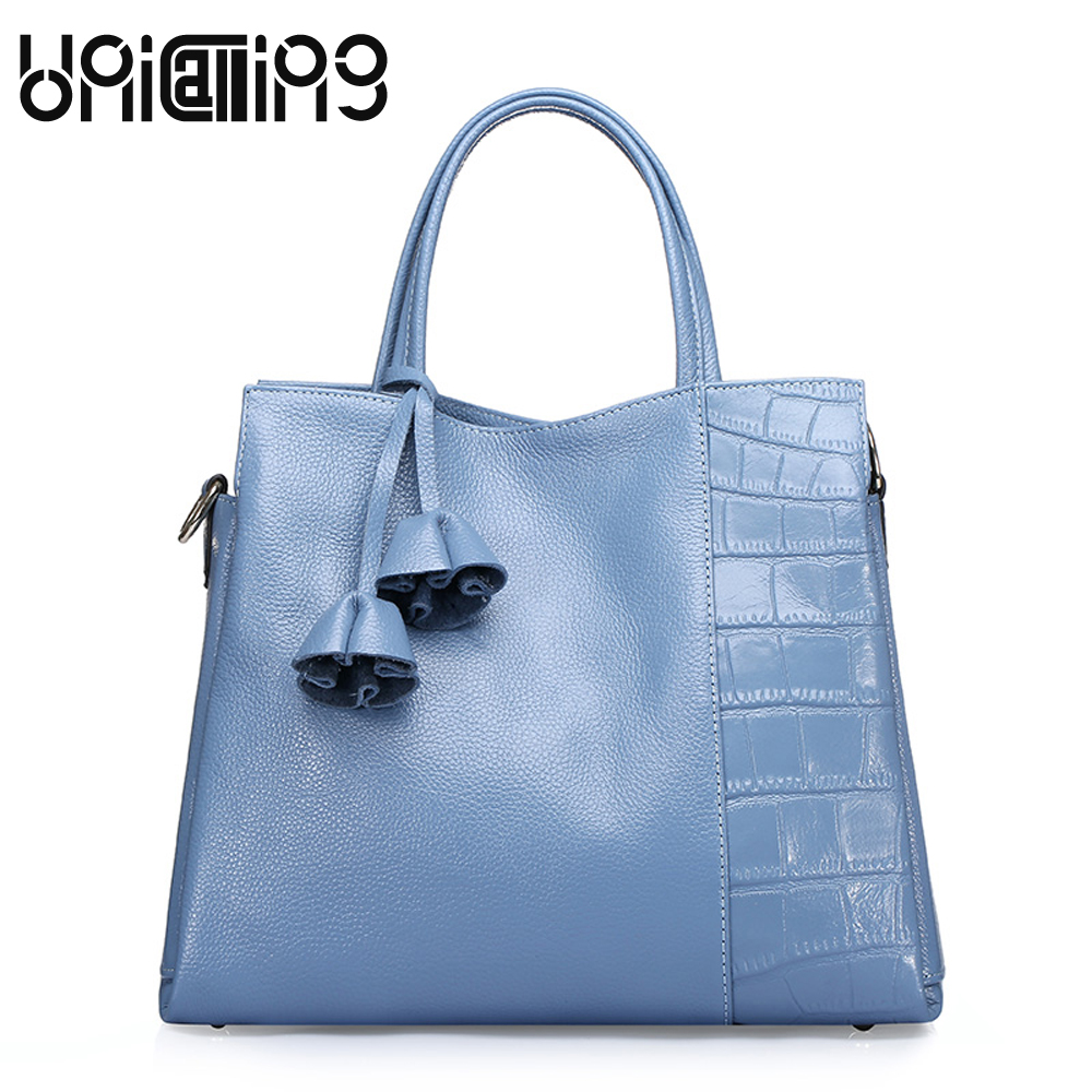 UniCalling Fashion Contracted Genuine Leather women bag Top grade All-match Retro shoulder bags mini cow leather women handbag 2017 fashion all match retro split leather women bag top grade small shoulder bags multilayer mini chain women messenger bags
