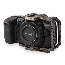 تيلتا BMPCC 4K قفص رمادي نصف قفص لتصميم بلاكماجيك جيب سينما كاميرا 4K