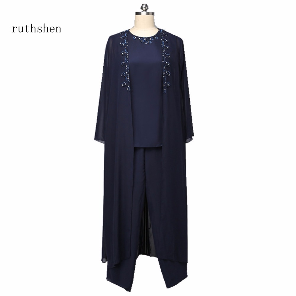 ruthshen Plus Size Mother Of The Bride Wedding Party Pants Suit With ...