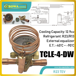 13KW disassemble R23 thermal expansion valve matches 9.5m3/h coolant compressor and regulates refrigerant flow between -40~-90C