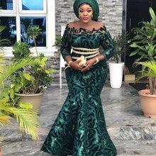 Tela de encaje nigeriano 2020, tela de encaje de terciopelo con lentejuelas de alta calidad, tul bordado dorado, tela de encaje de terciopelo africano L1710B 11