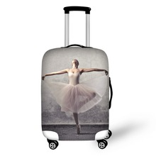 Купить с кэшбэком Ballet printing luggage protector cover suitcases covers Waterproof luggage covers accessory bags travel trolley case cove