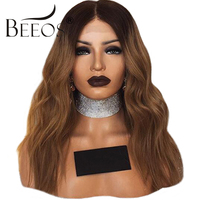 BEEOS Pre Plucked Full Lace Human Hair Wigs With Baby Hair130% Brazilian Remy Hair Ombre Lace Wigs Bleached Knots Women Wigs