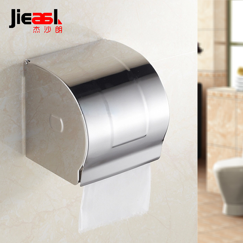 304 Stainless Steel Paper Holder Roll Tissue Holder Hotel Works Toilet Roll Paper Tissue Holder Box Waterproof Design space aluminum paper holder roll tissue holder hotel works toilet roll paper tissue holder box waterproof design