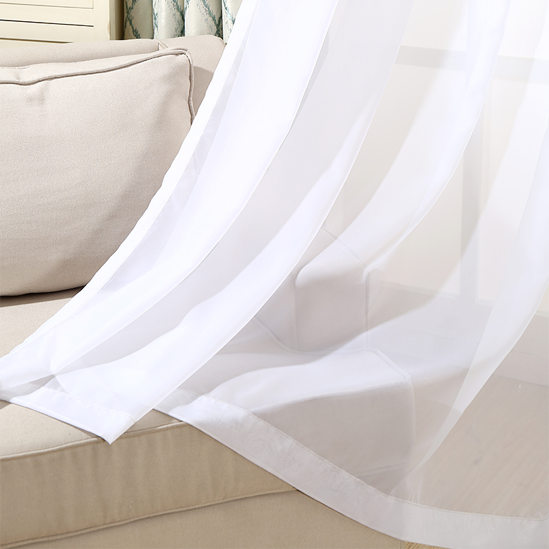 Sheer White Curtains For Living Room Modern Voile Tulle For Window Bedroom  Cortinas Blinds Window Screening Valance 2017 In Curtains From Home U0026  Garden On ... Part 87