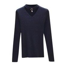 Las mujeres básicas del suéter Jersey de punto de manga larga Sexy v-cuello mujeres  suéteres Otoño Invierno elasticidad suave Pu. b5fba3bd0a28