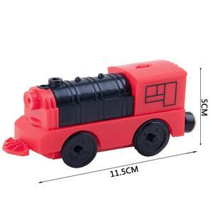 Image 5 - Combinación de accesorios de pista de madera para tren locomotor eléctrico magnético, Compatible con BRIO y la marca principal