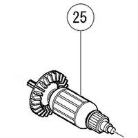 Armadura de 220 V-240 V Rotor 360689E 360689F para Hitachi WR14VB