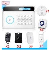 Etiger Multi-taal Menu Lcd-scherm Draadloze S4 Etiger Alarmsysteem GSM PSTN Dual netwerk Alarmsysteem