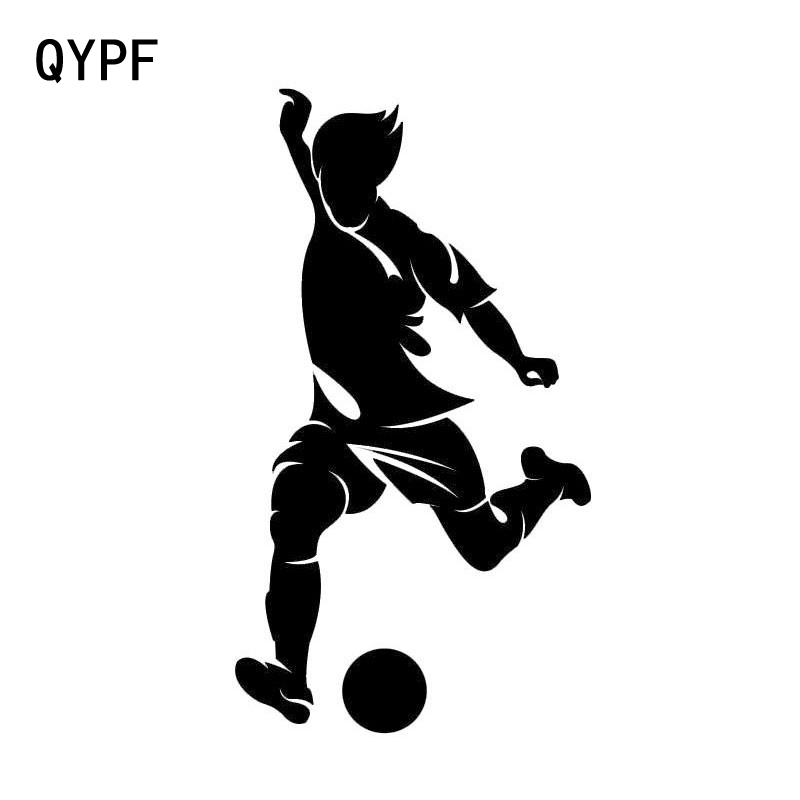 QYPF 7CM*12.5CM Personality Fashion Football Car Stickers Sports Personality Funny Car Accessories S2-0273