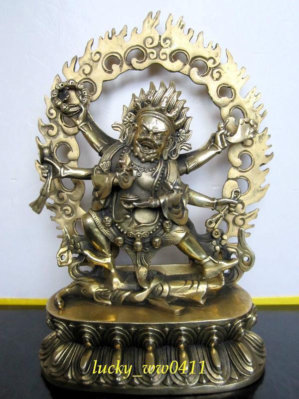 Mahakala protectors, wisdom, six arm Maha Gala, pure copper statue of Buddha, can install reservoirMahakala protectors, wisdom, six arm Maha Gala, pure copper statue of Buddha, can install reservoir