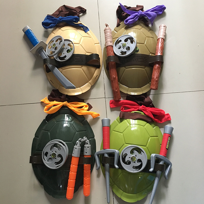 Turtles  Armor Toy Weapons Turtle Raphael Michelangelo Leonardo Figure Party Cosplay Mask Shell Weapon Props Kids