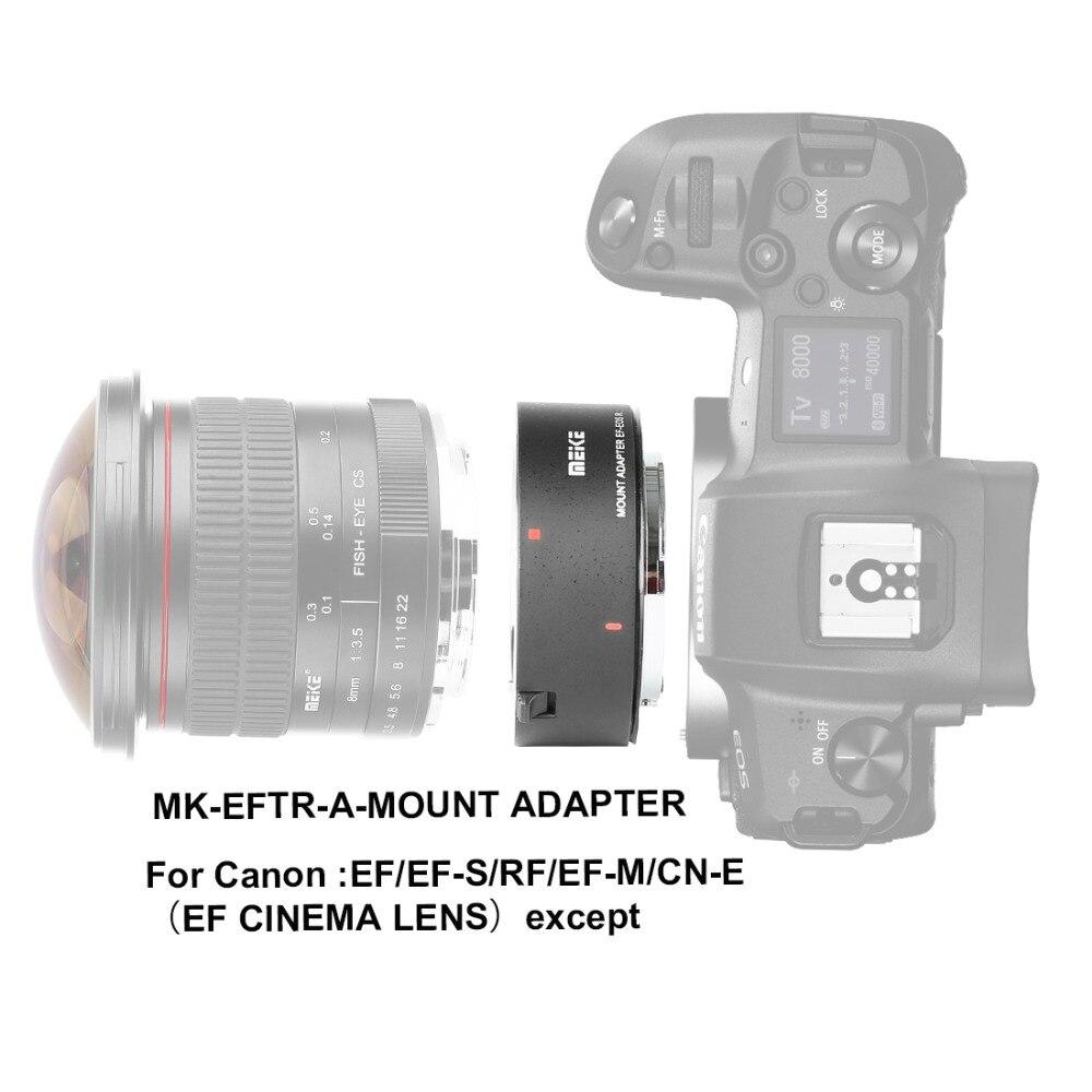 Mcoplus Meike anneau adaptateur de montage sur MK-EFTR-A pour objectif de montage Canon EF/EF-S/RF vers appareil photo Canon EOS-R