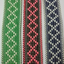 Webbing cotton wave Tape 3cm wide ethnic ribbon embroidery style trim accessory for bag/garment/homedeco homedeco