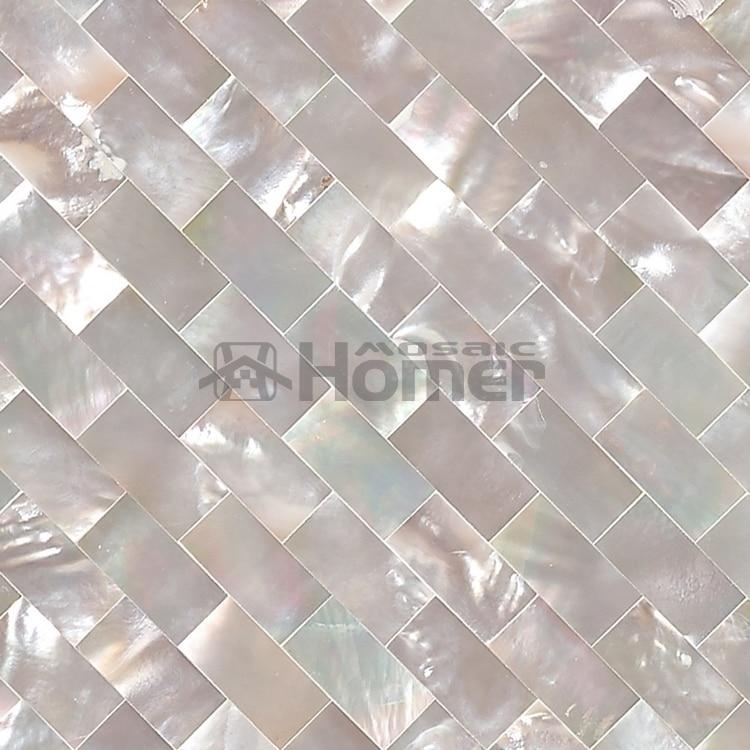 doprava zdarma! luxusní čistě bílá australská matka z perlové bezešvé mozaikové dlaždice, síťovina, 10x20mm, domácí vylepšení