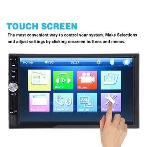 Image 2 - 7012B 7 pouces Bluetooth V2.0 voiture Audio stéréo écran tactile MP5 lecteur Support MMC