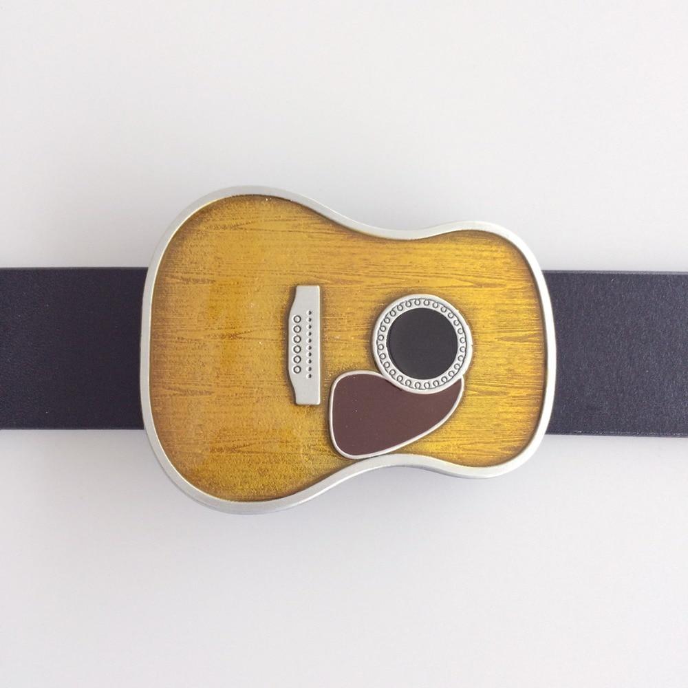 New Vintage Enamel Guitar Head Music Belt Buckle Gurtelschnalle Boucle de ceinture BUCKLE-MU071 Free Shipping also Stock in US