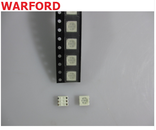 1000 Pcs Plcc-6 Yellow Color 586~589 5050 Smd 3-chips Led Lamp Bead A Complete Range Of Specifications