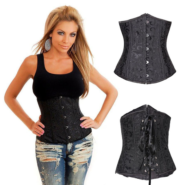 Gothic Embroidered Corset Bustier