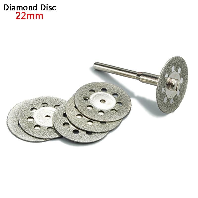 5pc 22mm диамантен диск за рязане на колела Dremel Rotary Tool аксесоари диамантени инструменти за камък шлифоване диамантен диск за стъкло