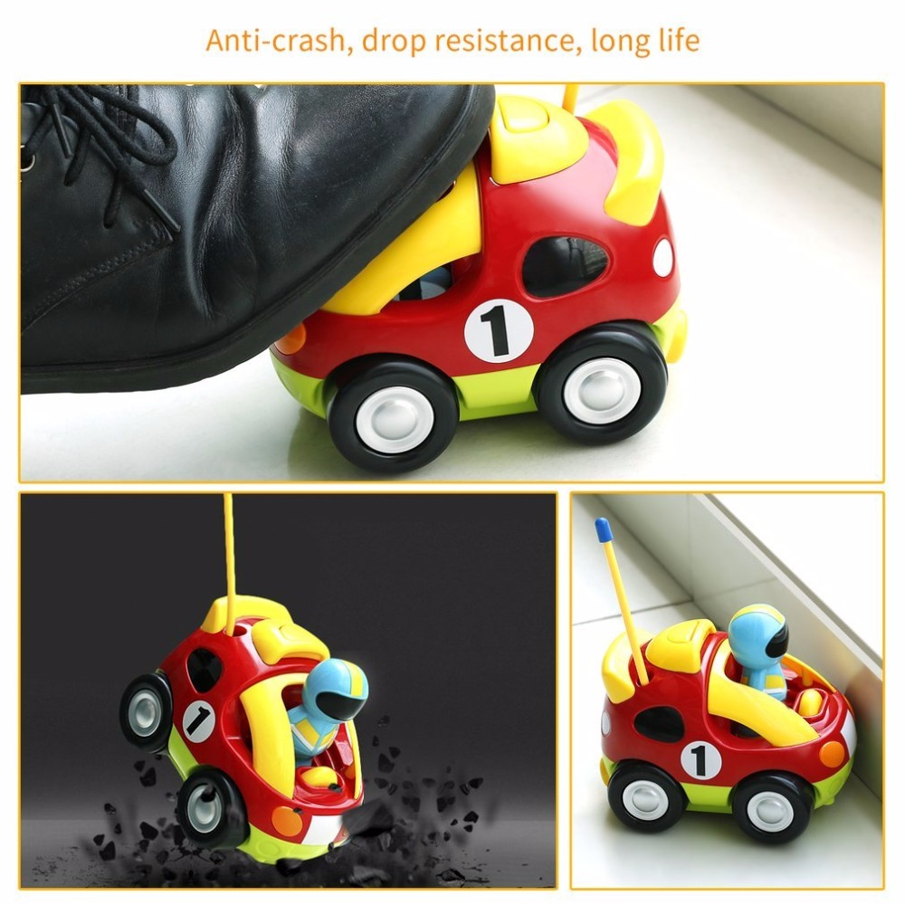 Mini Cartoon Astronaut Remote Control Race Car With Music & Light Educational Radio-Controlled rc Car Toys For Boys Baby Gift