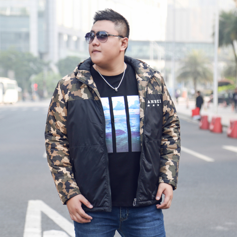 2017 New Mens Winter Casual Camo Parka Plus Size Hooded Thick Male Camouflage Padded Jacket Zipper Loose Mens Outwear Warm Coats winter jacket men warm coat mens casual hooded cotton jackets brand new handsome outwear padded parka plus size xxxl y1105 142f