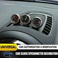 Новые автомобильные Интерьерные часы с гигрометром  Декоративный термометр для mini cooper JCW S F55 56 F60 R55 R56 R60  аксессуары для автомобиля